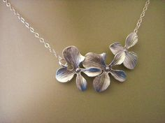 orchid necklace $22