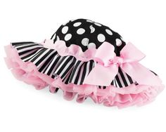 Mud Pie Baby Black Dot Floppy Hat 167087 18 Perfectly Princess Collection | eBay