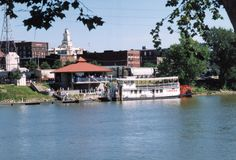 The Lorena Sternwheeler docked in downtown Zanesville