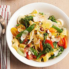 Pappardelle Primavera with Spring Vegetables From Better Homes and Gardens, ideas and improvement projects for your home and garden plus recipes and entertaining ideas.
