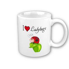 I Love Ladybugs Mugs from Zazzle.com