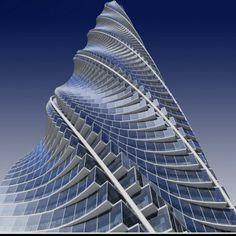 """Chicago Spire  - Santiago Calatrava (  he made a gift to Argentina, """" El puente de la mujer, en Puerto Madero)"""