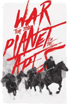 """My """"War for the Planet of the Apes"""" film poster. Now available in my shop: https://www.etsy.com/shop/MikeSapienzaDesigns"""
