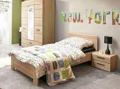 Jednolôžková posteľ bez čela pri nohách. Skvele sa hodí do každej detskej či študentskej izby.