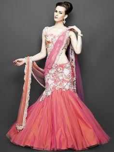 Pink-and-orange-lehenga