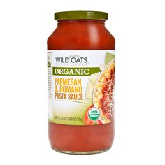 Make back-to-school dinners a breeze with Wild Oats USDA Certified Organic Parmesan & Romano Pasta Sauce.