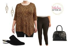 Affordable, Trendy Plus Size Clothing for Fall – Leggings with Leopard Print Tunic