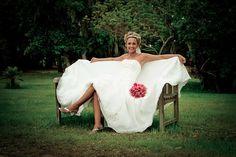 Bridal | Bride | Park Bench | Relax | Wedding | Plantation