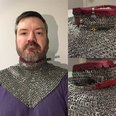 Historically Patterned Mail by Tom Biliter Arm Armor, Body Armor, Dao Sword, Knight Orders, Elmo, Chainmail Armor, Types Of Armor, Medieval Weapons, Medieval Costume