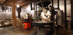 Seattle Roastery /// left: 5 kilo probat coffee roaster that Duane Sorensen founded Stumptown with. right: 22 kilo UG probat.