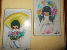 DeGrazia Art Spanish Boy & Girll- Double set of playing cards- Vintage, in box
