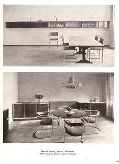 Marcel Breuer chairs, from Neue Raumkunst in Europa und Amerika, 1929