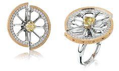 Stone Jewelry, Charm Jewelry, Jewelry Art, Jewelry Rings, Jewelery, Jewelry Design Drawing, Jewellery Sketches, Diamond Wedding Bands, Designs To Draw