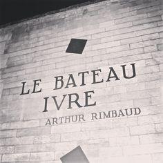 Le bateau ivre Arthur Rimbaud in Paris Paris, Cook, Recipes, Notebooks, Livres, Objects, Montmartre Paris, Paris France