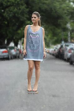 A T-shirt costumization for a brazilian brand, Hash by Edgel. Now is a dress!