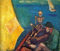 """""""Dümenci Ölüm"""" - Edvard Munch (1893)"""