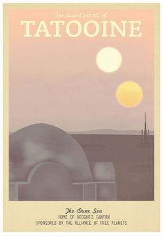 star wars travel agency poster.