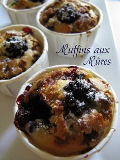 J'en reprendrai bien un bout...: Muffins aux Mûres Apple Tea Cake, Cinnamon Tea Cake, Lemon Tea Cake, Homemade Cake Recipes, Cookie Recipes, Fresh Fruit Cake, Fruit Fruit, Fruit Cakes, Blackberry Muffin