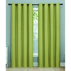 Floopi Olive Rebecca Blackout Curtain Panel ($30) ❤ liked on Polyvore featuring home, home decor, window treatments, curtains, grommet blackout curtains, olive green curtain panels, grommet draperies, blackout grommet curtain panels and blackout curtains