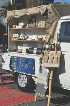 Half Hitch Goods rolling store and pop-up shop // via Spotted SF Super creative, simple and inviting! popuprepublic.com