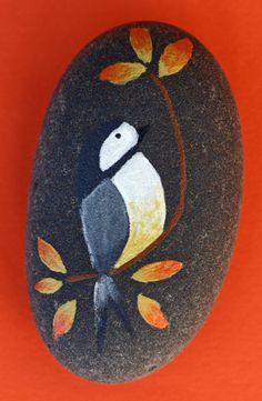 Peint de Pierre de jardin roche de rivière par DeborahMcGeeArt