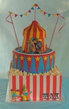 Circus Themed Birthday Cake.
