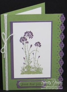 stampin up serene silhouettes card ideas | Stampin' Up! Serene Silhouettes hand stamped greeting card. Serene ...