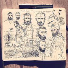 Early character study for #thefallcomic  in my #Moleskine #sketchbook…