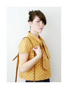 Yellow and polka dots