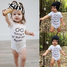61989524d903 Newborn Baby Boy Girl Cotton Romper Jumpsuit Bodysuit Kids Clothes Outfit   WaitingForMyLetterFromHogwarts Funny Baby Clothes