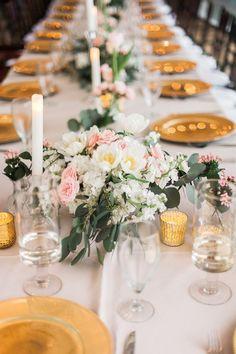photo: Tracy Enoch Photography; Wedding reception centerpiece idea;