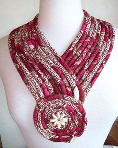 Limited Time-Ships Free African fabric necklace by paintedthreads2