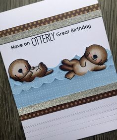 MFT Stamps / My Favorite Things -  Otter - Otterly Love You. www.clairmatthews.com