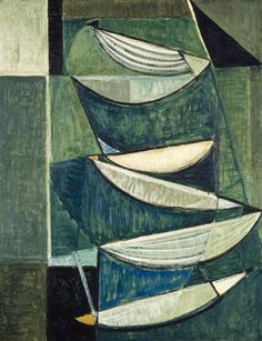 Black and White Movement on Blue and Green II, 1951-52 by Terry Frost © Estate of Terry Frost. All Rights Reserved, DACS 2017. Image: © National Galleries of Scotland
