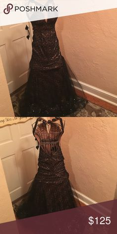 Selling this PROM !!Stunning ❤️gown by Sean Couture size 0 on Poshmark! My username is: susanpalonicola. #shopmycloset #poshmark #fashion #shopping #style #forsale #Sean Couture #Dresses & Skirts