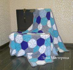 """Motivo Hexagonal """"Mosaico"""" (crochê) - Mestrado Feira - artesanal, Feito à Mão"""