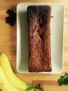 Bananabread with chocolat