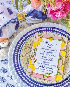 Whipped Feta, Mediterranean Chicken, Southern Ladies, Grilled Peaches, Enjoy Summer, Tablescapes, Floral Arrangements, Menu, Entertaining