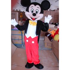 Livraison Gratuite Taille Adulte Pour Mickey Mouse Mascot Costume Party Dress EPE