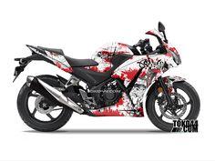 Decal Sticker CBR 150 R Hitam – Stiker Modifikasi Honda CBR 150 R K45 Lokal | Toko44.com