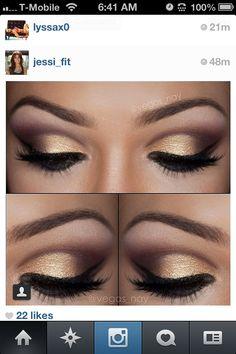 Smokey eye competition makeup