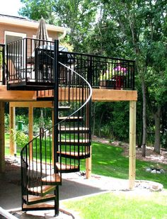 deck with spiral staircase picture outdoor spiral staircase kits prices