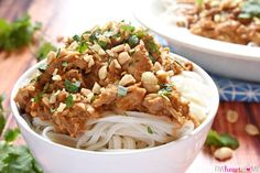 Slow Cooker Chicken with Thai Peanut Sauce