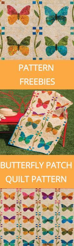 Pattern Freebies: GO! Butterfly Patch Quilt Pattern | National Quilters Circle http://www.nationalquilterscircle.com/article/pattern-freebies-go-butterfly-patch-quilt-pattern/