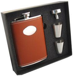 Shop for Visol Bobcat Brown Leather Supreme II Flask Gift Set - 8 ounces. Get free delivery On EVERYTHING* Overstock - Your Online Kitchen & Dining Shop! Wine Decanter Set, Electric Wine Bottle Opener, Shot Cups, Specialty Appliances, Groomsman Gifts, Wines, Kitchen Dining, Brown Leather, Stainless Steel