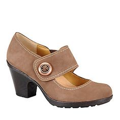 """SoftSpots Women's Cassidy Mary Jane Shoes in """"Hersey Brown."""" Smarts: Pillow Top comfort footbed molds to the shape of your foot. FootSmart.com"""