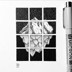 Drawing 36/365 geometric glacier peak [#drawing][#art][#artwork][#photoscape][#Simplycooldesign][#nature][#outdoors][#wild][#scenery][#landscape][#mountains][#blackandwhite][#iblackwork][#geometric][#pointillism][#minimalist][#microns][#linework][#dotwork][#stippling][#illustration][#doodles]