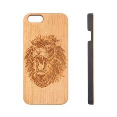 Lion Animal Natural Wood Engraved iPhone 6s Case iPhone 6s plus Cover – Acyc