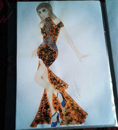 Croqui de moda Insta@tanynhamoura