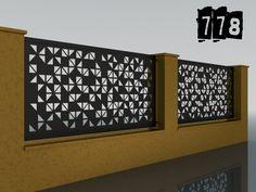 PLOTY GEOMETRY – Ploty-Brány-Zábradlia-Doplnky Front Yard Fence, Plasma Cutting, Fencing, Cnc, Balcony